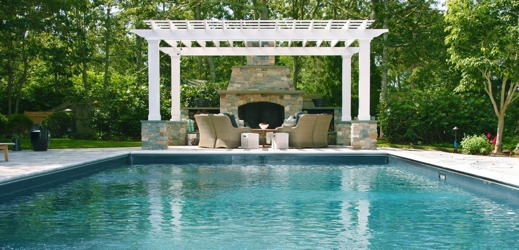 Cape Cod Pool and Fire Pit