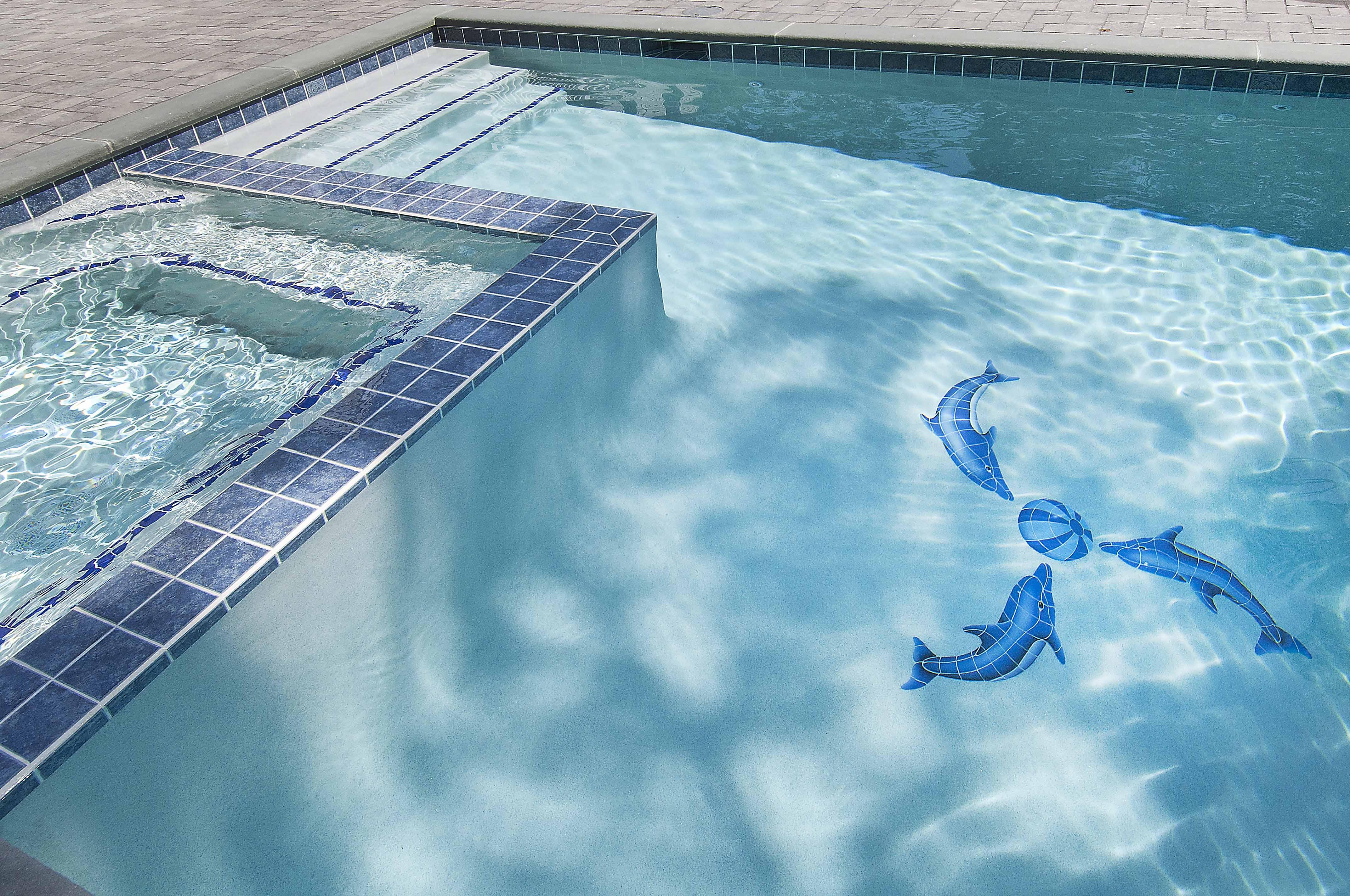 Shoreline Pools pool tiling