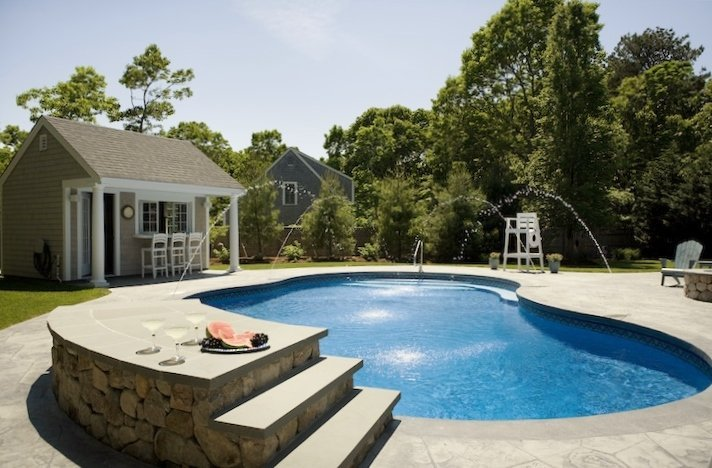 Pool house or cabana - Shoreline Pools Cape Cod