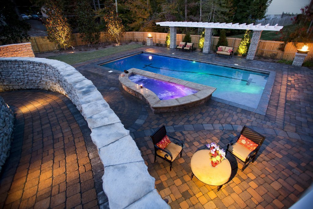 Shoreline Pools pool lighting Cape Cod