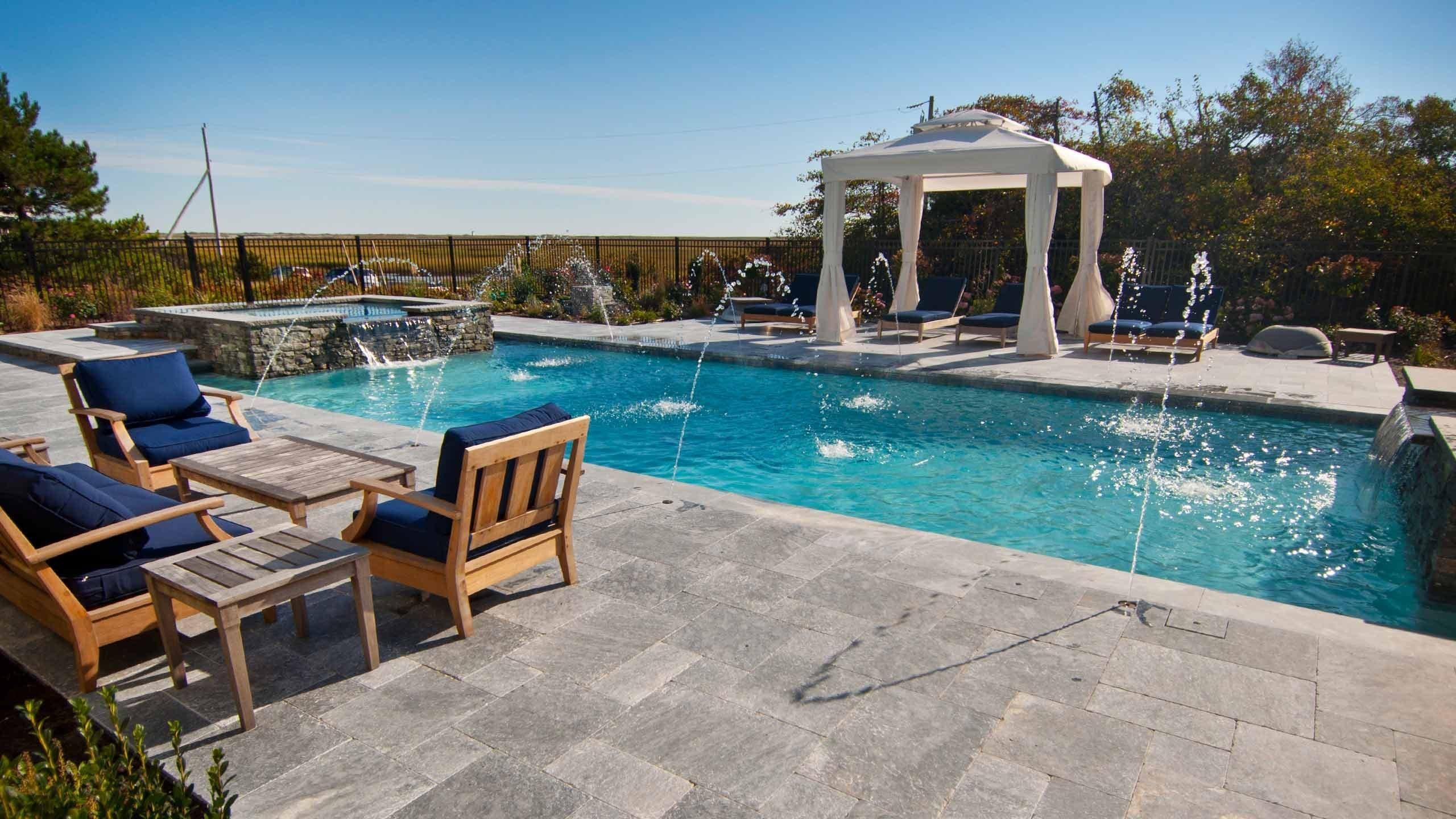 Outdoor pool overlooking the water in Provincetown